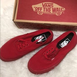 🛑Price firm!!RED Vans NEW Sneakers
